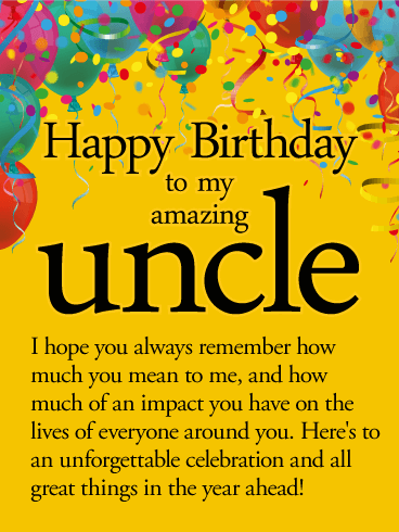 Best Uncle Birthday Greetings And Wishes Images