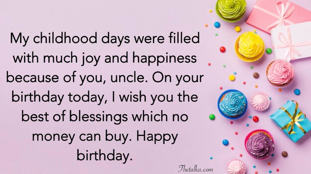 Best Uncle Happy Birthday Quotes And Wishes Images