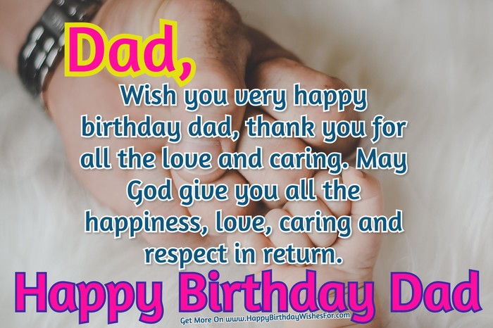 Dad Birthday Quotes And Messages Images