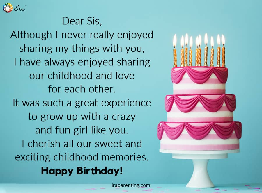 Dear Sister Happy Birthday Wishes And Images