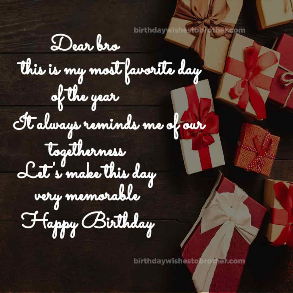 Dear Brother Birthday wishes And Quotes Images