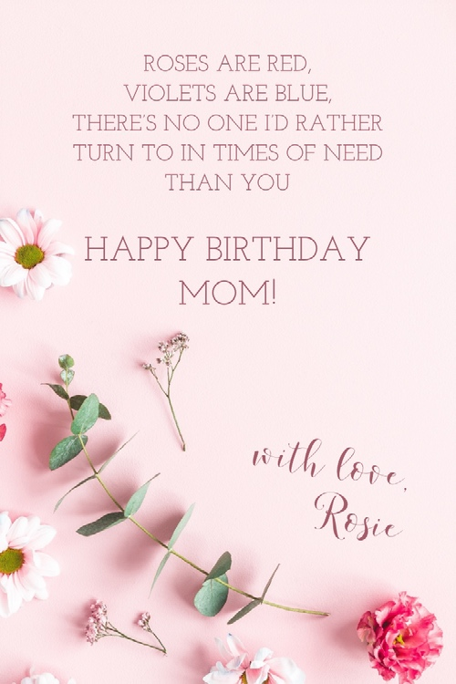 Dear Mom Happy Birthday You are The Best Mom In The World Greetngs And Wishes Images