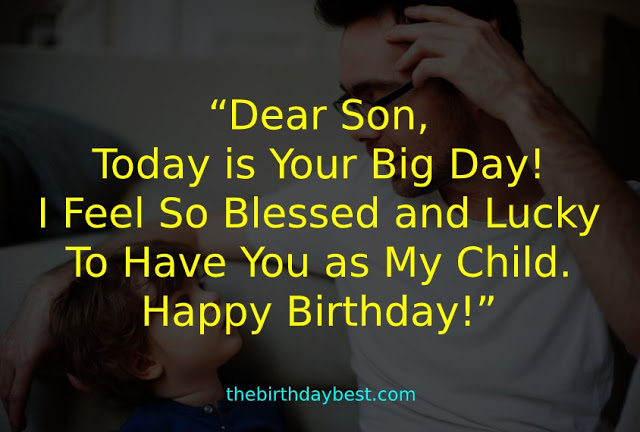 Dear Son Wish You A Very Happy Birthday Greetings And Wishes Images
