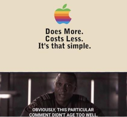 Does More Costs Less Apple Meme