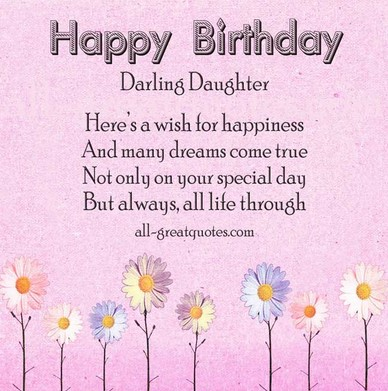 Fabulous Daughter Birthday Greetings Message And Quotes Images