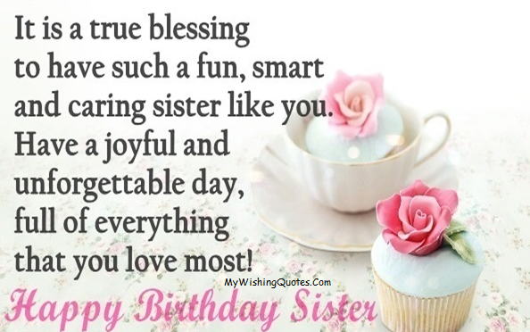 Fabulous Sister Birthday Wishes On Her Birthday Greetings And Wishes Images