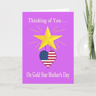 Gold Star Mother's Day Greetings Cards And Messages