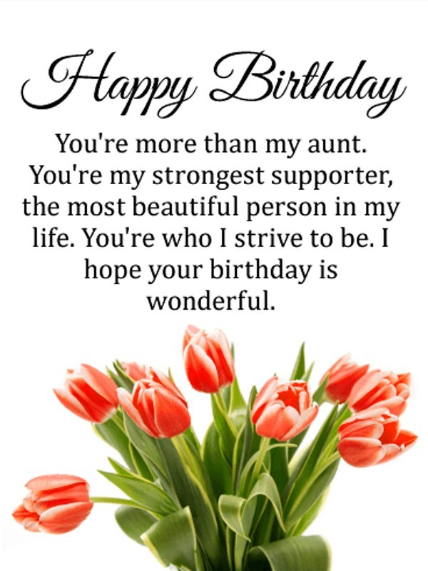 Happy Birthday To My Best Aunt Greetings Quotes And Wishes Messages