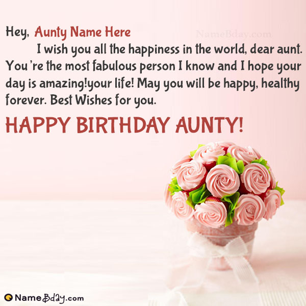 Happy Birthday To My Dear Aunt Wishes And Greetings Messages Images