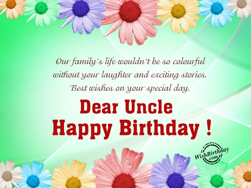 Have A Wonderful Birthday Dear Uncle Birthday Wishes And Greetings Message Images