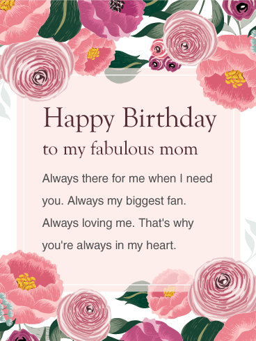 I Am So Lucky That I Have Wondeful Mom Like You Happy Birthday Mom Wishes And Greetings