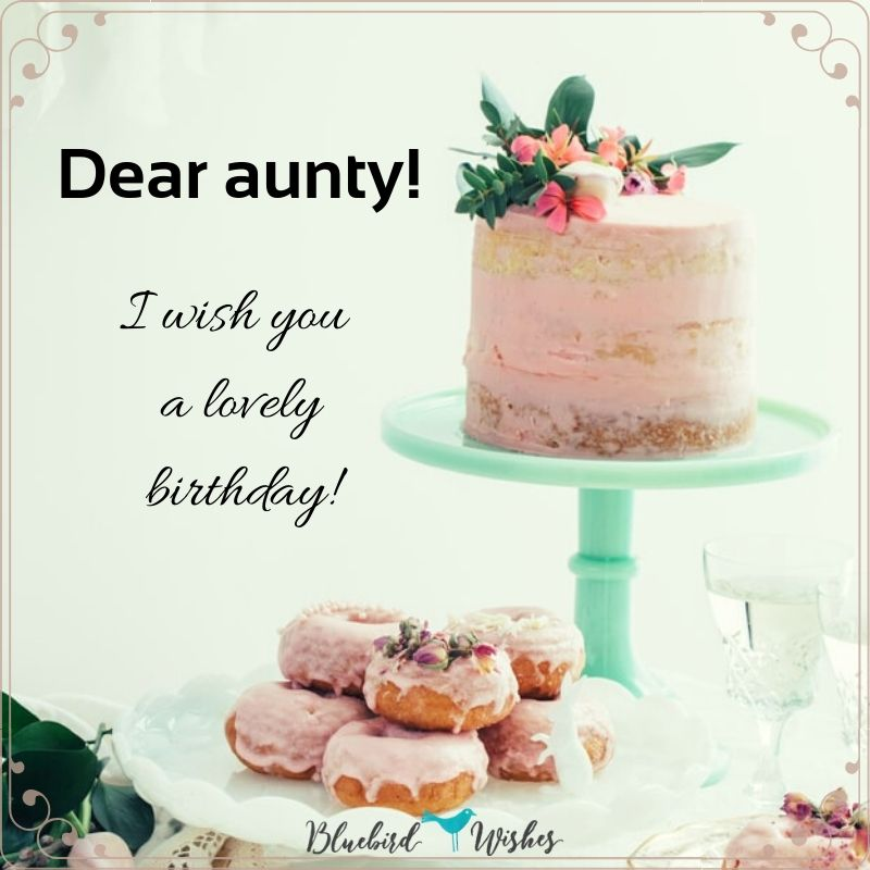 I Wish You A Wonderful Birthday Dear Aunt Greetings Images