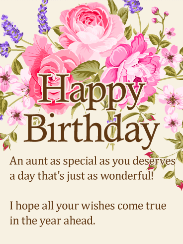 Lovely Aunt Happy Birthday Greetings Messages And Wishes Quotes
