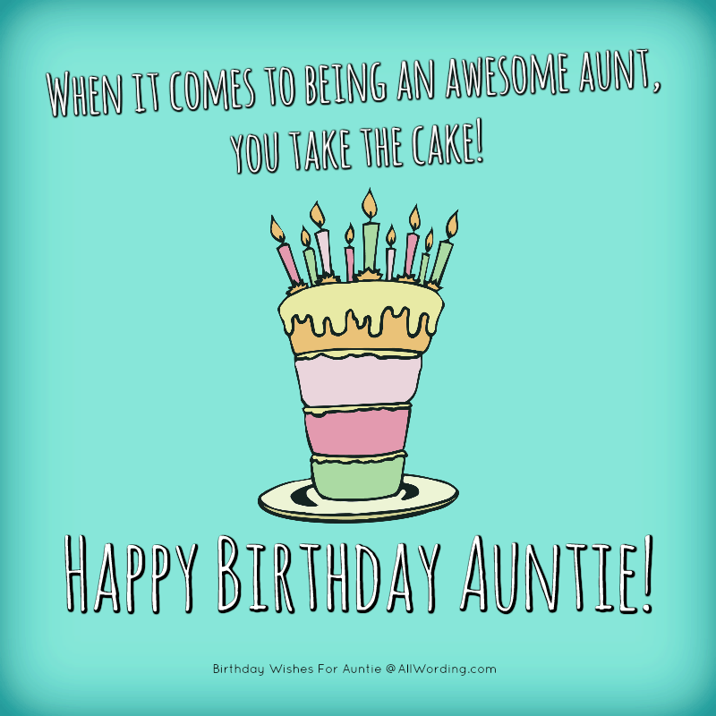 Lovely Happy Birthday Wishes And Quotes To My Dear Aunt