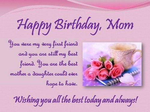 Mom Birthday Greetings Quotes And Messages Images