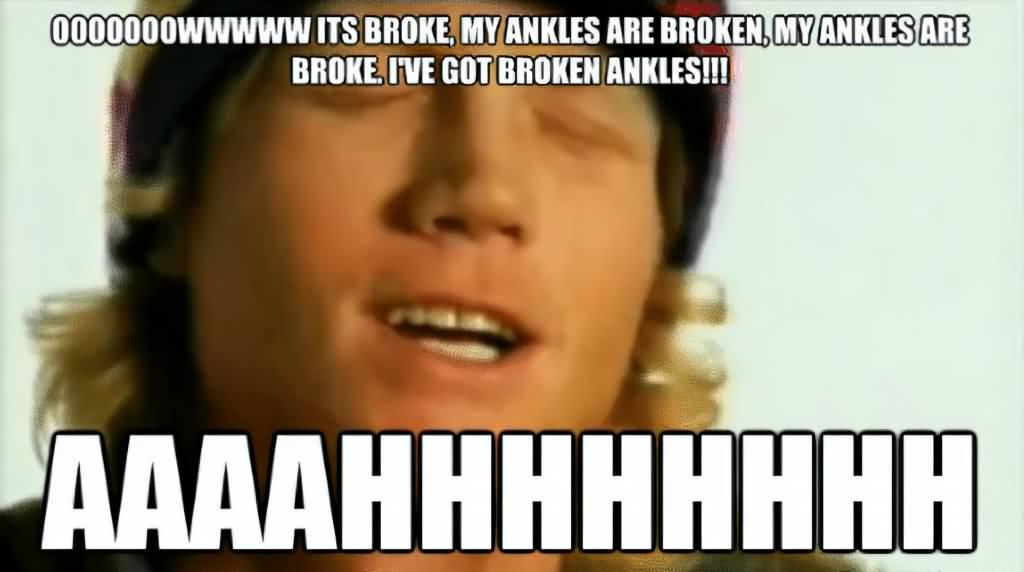 Ooooowwwww It's Broke My Ankle Meme