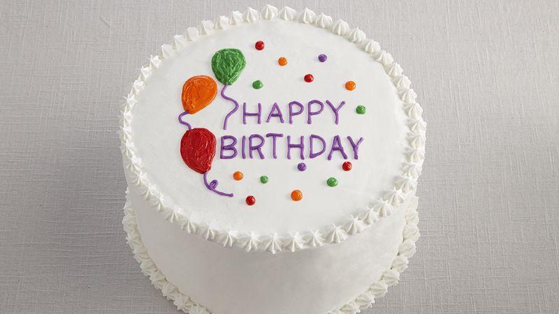 Round White Birthday Cake With Creative Idea Images