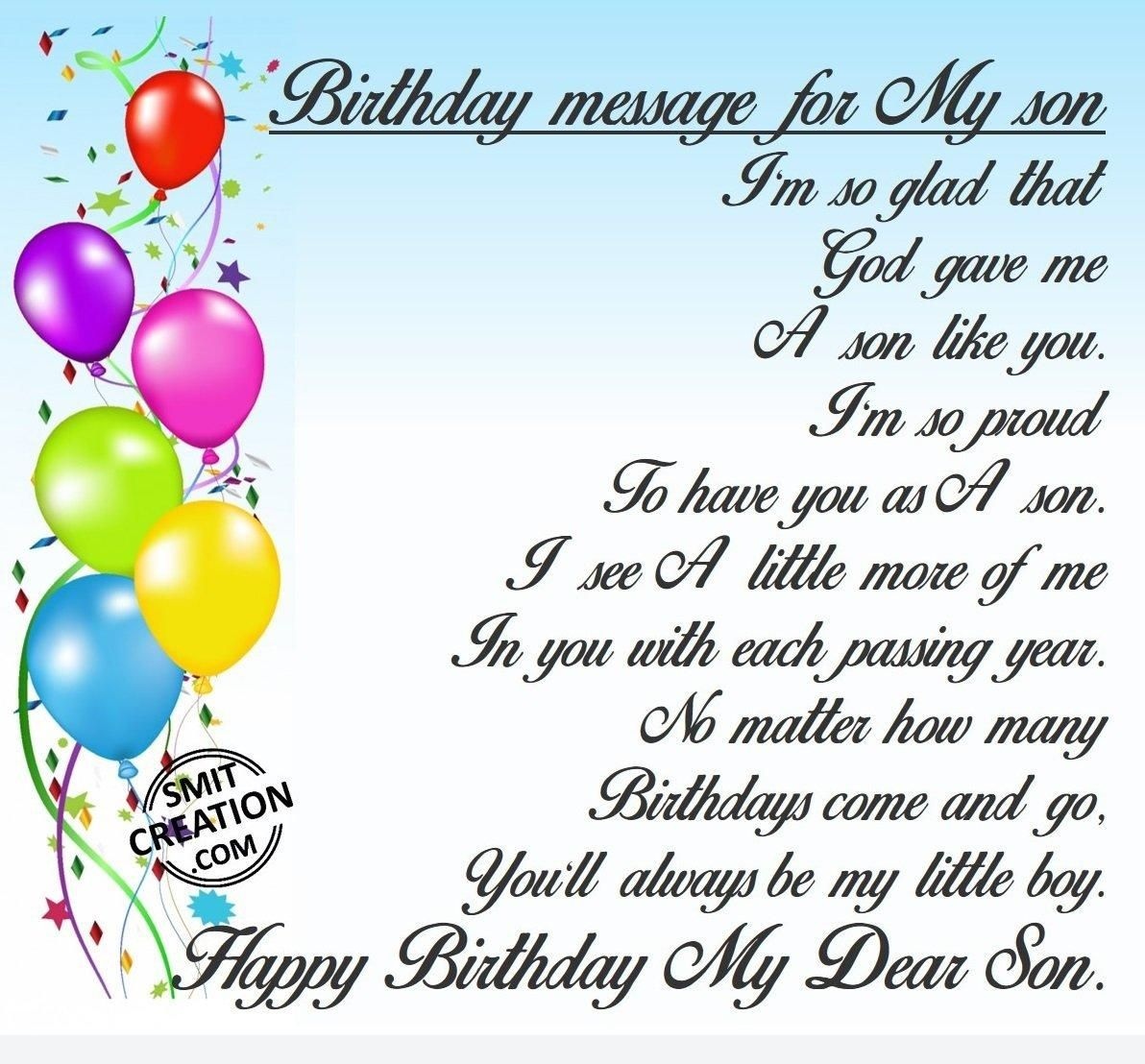 Son Birthday Messages And Lovely Quotes Greetings Images