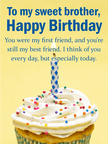 Special Birthday Wishes For Brother Greetings Quotes