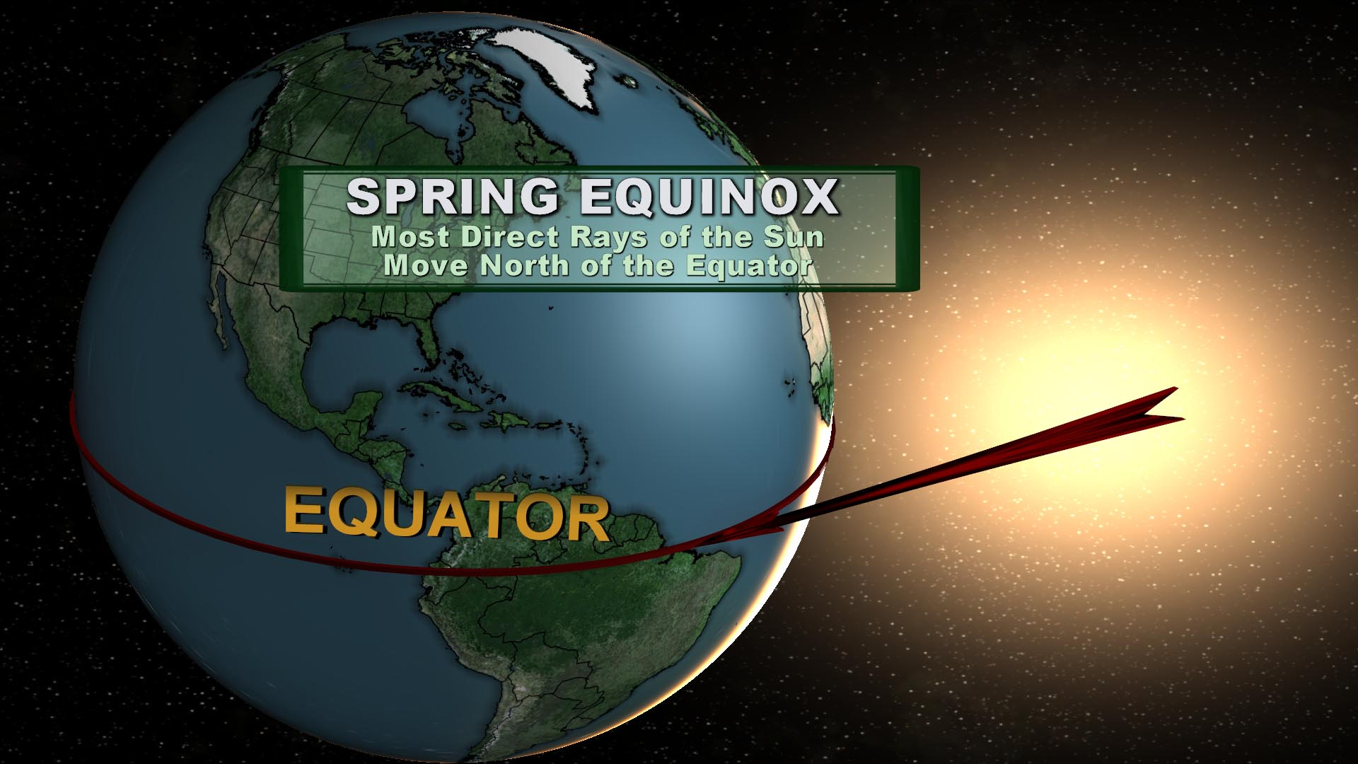 Spring Equinox Most Direct Rays Of The Sun