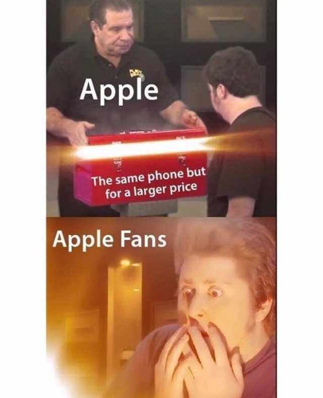The Same Phone But For Apple Meme