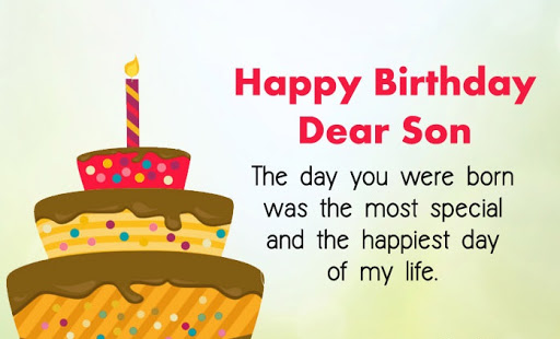 To My Adorable Son Happy Birthday Greetings And Wishes Quotes Images