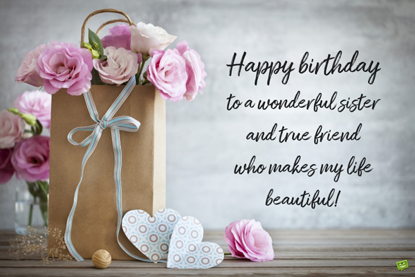 To My Beautiful And Carings Sister Have A Wonderful Birthday Wishes And Greetings Image s