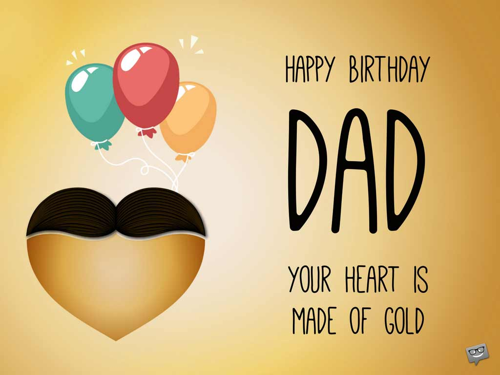 To My Lovely Dad Wish You A Very Happy Birthday Greetings Images And Quotes