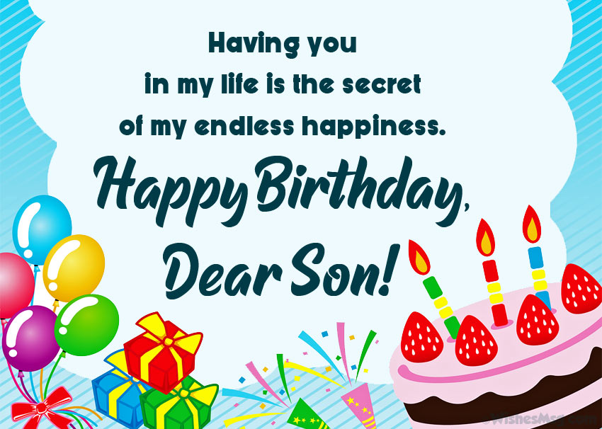 To My Precious Son Happy Birthday And Greetings Messages Images