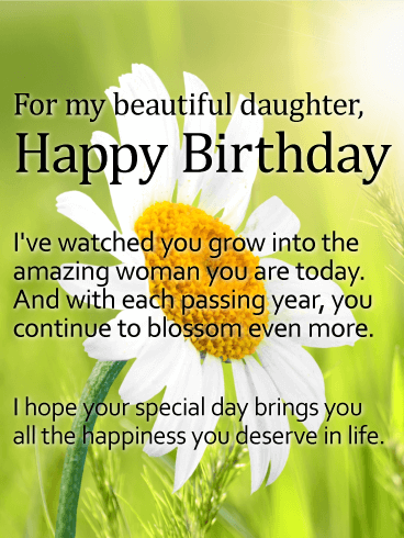 To My Sweet Daughter Happy Birthday Greetings And Messages Images
