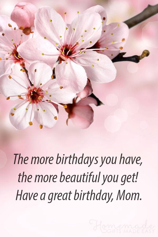 To My Sweet Mom Happy Birthday Greetings Quotes Images