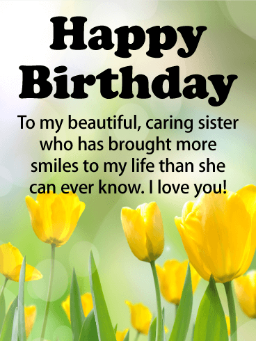 To My Sweet Sister Happy Birthday Greetings And Wishes Image s