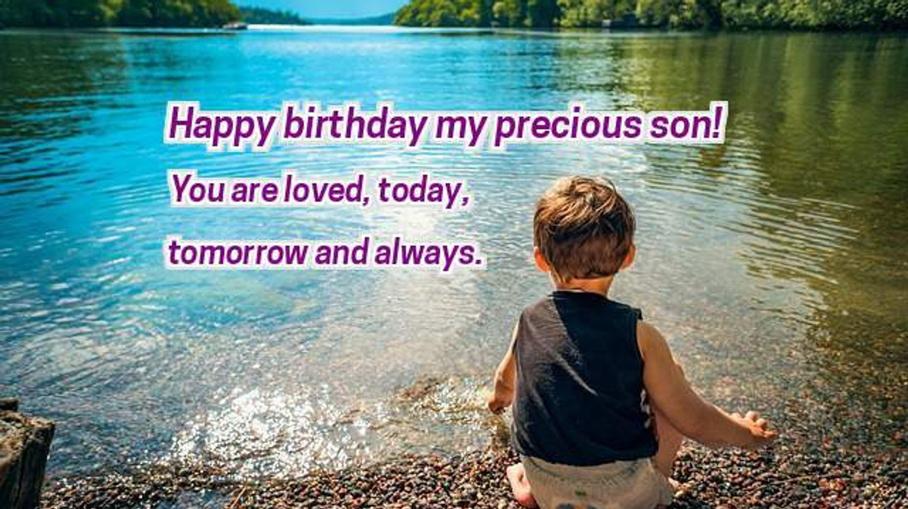 To My Sweet Son Happy Birthday Have A Wonderful Birthday Greetings And Messages Images