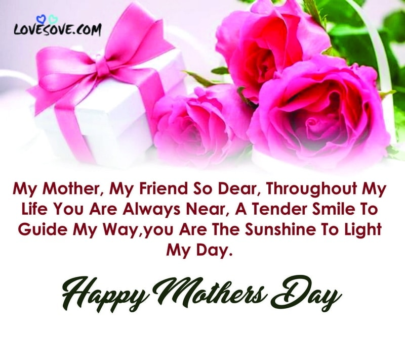 To my Dear Mom Happy Mother's Day Greetings And Messages Images