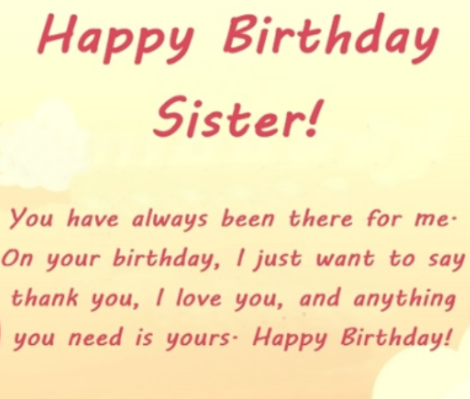 To my Sweet Sister Happy Birthday Wishes And Greetings Messages With Images