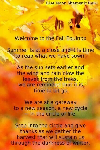 Welcome To The Fall Equinox