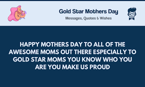 Wish You A Wonderful Gold Star Mother's Day Wishes And Greetings Text Images