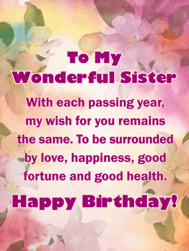 Wishing You A Wonderful Birthday Sister GOD Bless You