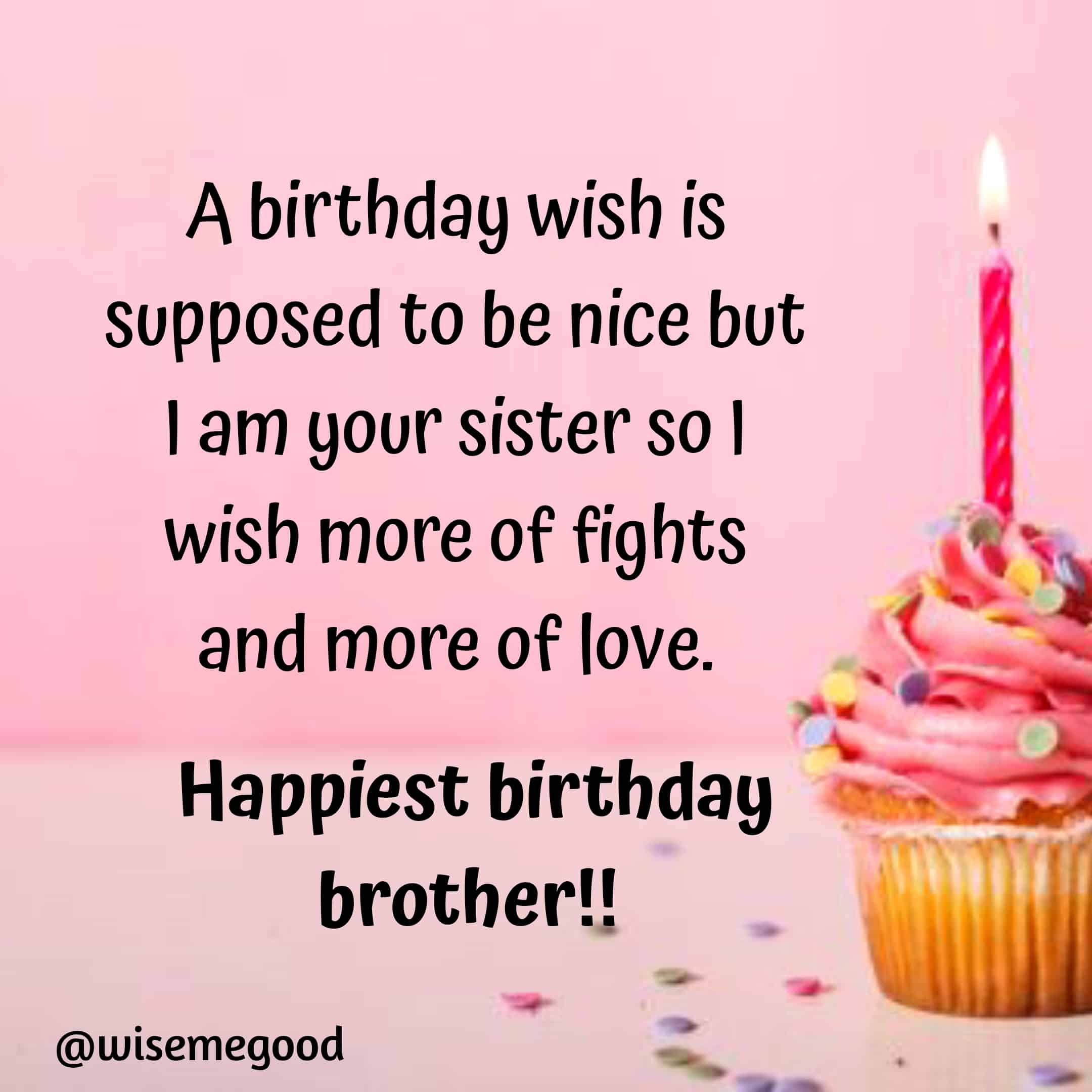 Wonderful Brother Birthday Wishes and Greetings Cards Quotes Picture
