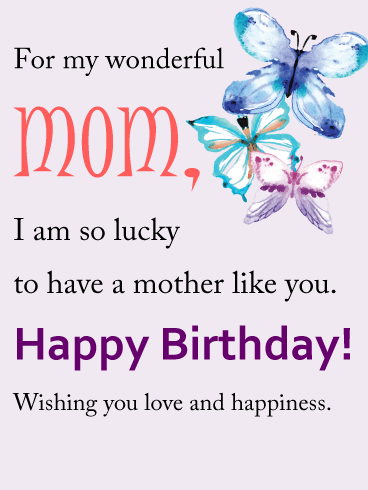 Wonderful Mom Birthday Wishes And Quotes Images