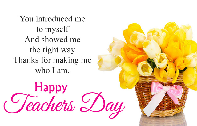You Introduced Me To My Self Thank You Happy teacher's Day Wishes Quotes And Images