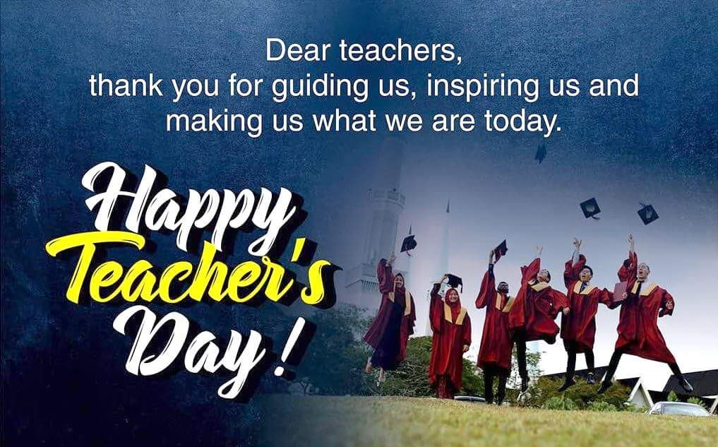dear Teachers thank You For Guiding Us Happy Teacher's Day Wishes Images