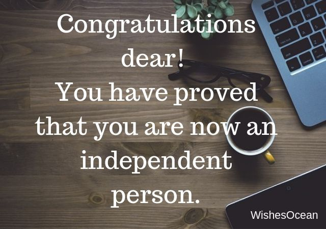 Congratulation Dear You Have Proed
