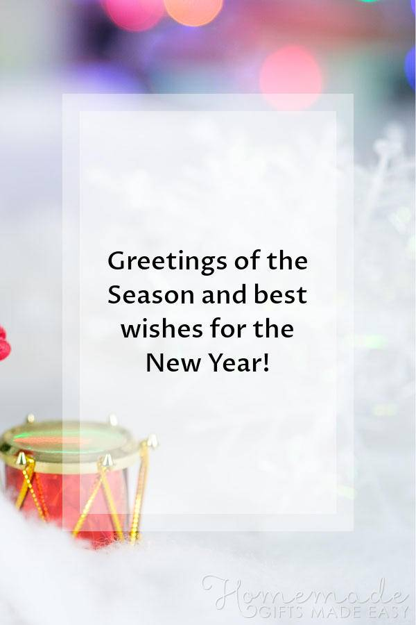 Greeting Of The Season And Best Wishes For The New Year